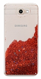 Samsung Galaxy J7 Prime / J7 Prime 2 Simli Sulu Kırmızı Rubber Kılıf
