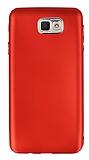 Samsung Galaxy J7 Prime Metal Kamera Korumalı Kırmızı Silikon Kılıf