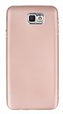 Samsung Galaxy J7 Prime Metal Kamera Korumalı Rose Gold Silikon Kılıf