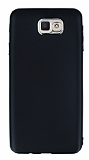 Samsung Galaxy J7 Prime Metal Kamera Korumalı Siyah Silikon Kılıf