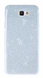 Samsung Galaxy J7 Prime Simli Silver Silikon Kılıf
