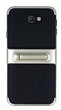 Samsung Galaxy J7 Prime Standlı Çizgili Gold Silikon Kılıf