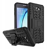 Samsung Galaxy J7 Prime / J7 Prime 2 Süper Koruma Standlı Siyah Kılıf