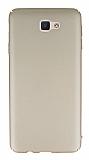 Samsung Galaxy J7 Prime Tam Kenar Koruma Gold Rubber Kılıf