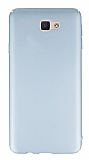 Samsung Galaxy J7 Prime Tam Kenar Koruma Silver Rubber Kılıf