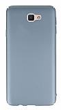 Samsung Galaxy J7 Prime Tam Kenar Koruma Dark Silver Rubber Kılıf