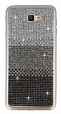 Samsung Galaxy J7 Prime Taşlı Geçişli Siyah Silikon Kılıf