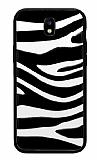 Samsung Galaxy J7 Pro 2017 Zebra Desenli Siyah Kenarlı Silikon Kılıf