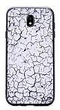 Samsung Galaxy J7 Pro 2017 Marble Beyaz Silikon Kılıf