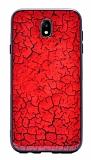 Samsung Galaxy J7 Pro 2017 Marble Kırmızı Silikon Kılıf