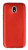 Samsung Galaxy J7 Pro 2017 Metal Kamera Korumalı Kırmızı Silikon Kılıf