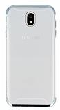 Eiroo Radiant Samsung Galaxy J5 Pro 2017 Silver Kenarlı Şeffaf Rubber Kılıf