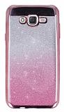Samsung Galaxy J7 / Galaxy J7 Core Simli Parlak Pembe Silikon Kılıf