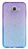 Samsung Galaxy J7 Simli Mor Silikon Kılıf