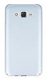 Samsung Galaxy J7 Tam Kenar Koruma Silver Rubber Kılıf