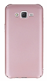 Samsung Galaxy J7 Tam Kenar Koruma Rose Gold Rubber Kılıf