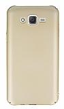 Samsung Galaxy J7 Tam Kenar Koruma Gold Rubber Kılıf