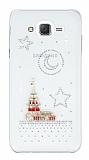Samsung Galaxy J7 / Galaxy J7 Core Taşlı Kız Kulesi Şeffaf Silikon Kılıf