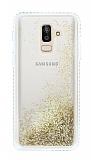Samsung Galaxy J8 Simli Sulu Gold Rubber Kılıf
