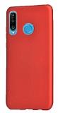 Samsung Galaxy M30 Mat Kırmızı Silikon Kılıf