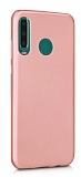 Samsung Galaxy M30 Mat Rose Gold Silikon Kılıf