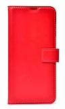 Samsung Galaxy M30S Kapaklı Cüzdanlı Kırmızı Deri Kılıf
