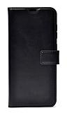 Samsung Galaxy M30S Kapaklı Cüzdanlı Siyah Deri Kılıf