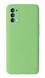 Oppo Reno4 Kamera Korumalı Yeşil Silikon Kılıf