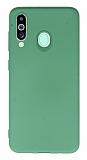 Samsung Galaxy M40 Rainbow Yeşil Silikon Kılıf