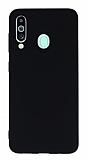 Samsung Galaxy M40 Rainbow Siyah Silikon Kılıf