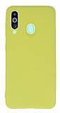 Samsung Galaxy M40 Rainbow Sarı Silikon Kılıf