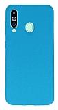Samsung Galaxy M40 Rainbow Mavi Silikon Kılıf
