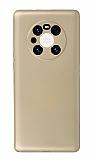 Huawei Mate 40 Pro Kamera Korumalı Gold Silikon Kılıf