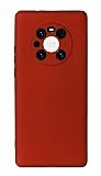 Huawei Mate 40 Pro Kamera Korumalı Bordo Silikon Kılıf