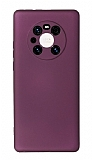 Huawei Mate 40 Pro Kamera Korumalı Mürdüm Silikon Kılıf