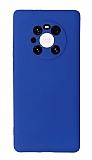 Huawei Mate 40 Pro Kamera Korumalı Lacivert Silikon Kılıf