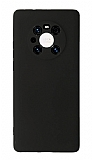 Huawei Mate 40 Pro Kamera Korumalı Siyah Silikon Kılıf