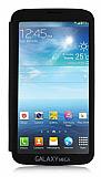 Samsung Galaxy Mega 6.3 Tam Ekran Pencereli Kapakl� Siyah K�l�f