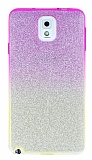 Samsung Galaxy N9000 Note 3 Simli Pembe Silikon Kılıf