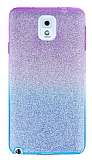 Samsung Galaxy N9000 Note 3 Simli Mor Silikon K�l�f