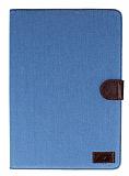 Samsung Galaxy Note 10.1 2014 Edition Kot Desenli Standl� Yan Kapakl� Deri K�l�f