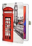Samsung Galaxy Note 10.1 2014 Edition London Standlı Yan Kapaklı Deri Kılıf