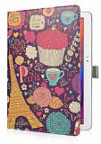Samsung Galaxy Note 10.1 2014 Edition Paris Standl� Yan Kapakl� Deri K�l�f