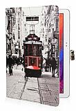 Samsung Galaxy Note 10.1 2014 Edition Taksim Standl� Yan Kapakl� Deri K�l�f