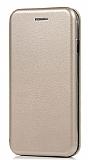 Samsung Galaxy Note 10 Lite Curve Manyetik Kapaklı Gold Deri Kılıf