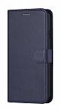 Samsung Galaxy Note 10 Plus Cüzdanlı Kapaklı Lacivert Deri Kılıf