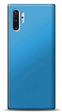 Samsung Galaxy Note 10 Plus Mavi Mat Silikon Kılıf