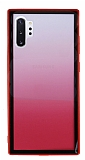 Samsung Galaxy Note 10 Plus Silikon Kenarlı Geçişli Kırmızı Rubber Kılıf