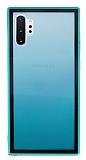 Samsung Galaxy Note 10 Plus Silikon Kenarlı Geçişli Yeşil Rubber Kılıf
