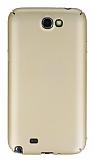 Samsung N7100 Galaxy Note 2 Tam Kenar Koruma Gold Rubber Kılıf